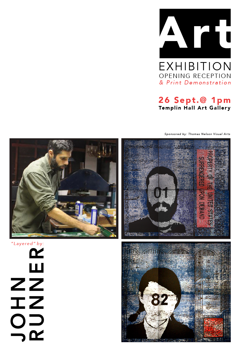 Poster of upcoming art exhibition.